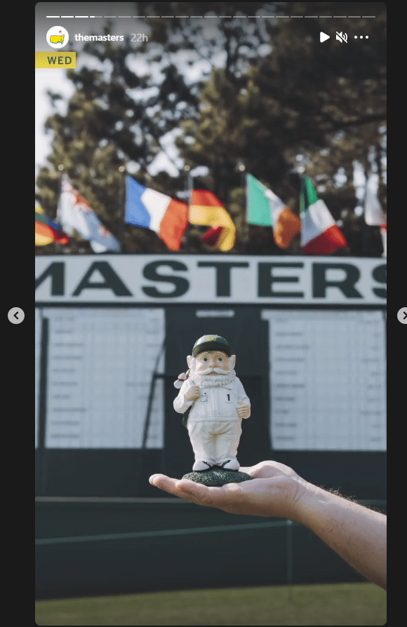 A screenshot of the Masters Instagram feed
